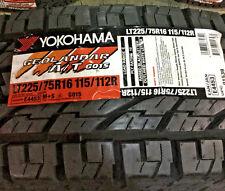 4 New LT 225 75 16 Yokohama Geolandar A/T G015 10 Ply Tires
