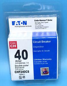 New Circuit Breaker Eaton Cutler Hammer CHF240 CH240 CH240CS 40 Amp 2 Pole
