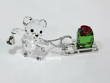 Kris Bear Christmas -2019, Sleigh & Gift Swarovski Crystal Authentic MIB 5464863
