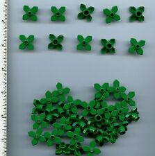 LEGO x 40 Green Plant Flower 2 x 2 Leaves Angular Basic