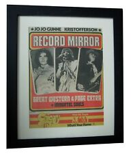GREAT WESTERN+RECORD MIRROR RARE ORIGINAL 1972+POSTER+FRAMED+EXPRESS GLOBAL SHIP
