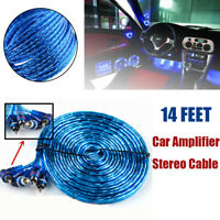 14' FT Noise Cancellation RCA AMP Audio Wire Car Amplifier Stereo Wiring Cable