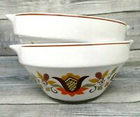 Lubiana Made in Poland small bowls set of two vintage handles restaurant ware