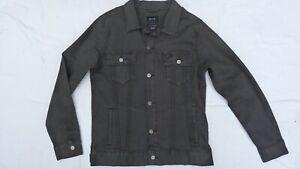Mens RVCA Daggers Denim Jacket Black Fade Cotton Stretch MMA volcom roark Size L