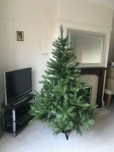 Christmas Tree 6 foot Virginia Pine John Lewis Metal Stand Easy Assemble Bushy