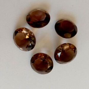 10 Pcs Natural Smoky Quartz 4mm Round Faceted Cut Loose Gemstone