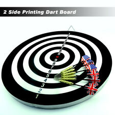 "18""  TWO SIDE PRINTING DART BOARD & 6 X DARTS au stock"