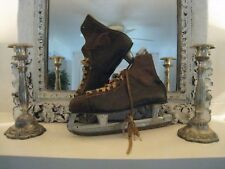 """VINTAGE MENS DAOUST ICE HOCKEY SKATES ALL STAR """"12"""" MADE IN CANADA  #279"""