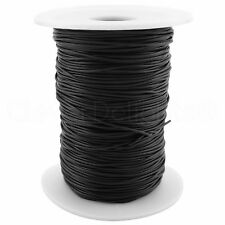 Black Solid Rubber Cord - 1mm Round - 25 Yards - Beading Craft Necklace - 1/32""