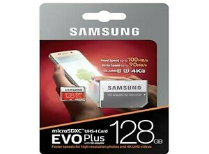 Samsung EVO Plus Style Micro SD Card - 128GB SDHC CLASS10 Card & ADAPTER