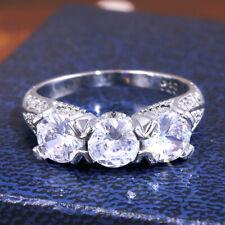 Wedding Rings White Sapphire Size 10 Fashion Women Jewelry 925 Silver Rings