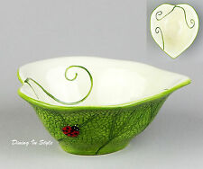 Heart Shape Leaf Dish / Bowl (s), MINT & NEAR MINT! Ladybug, Pier 1 Imports