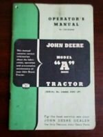John Deere Model A Tractor S/N 648000 And Up Owner's Operator's Manual OM-R2002R