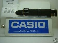 Casio watch band MSG-133 L Black Leather Two-Piece Strap/Watchband