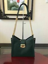 Michael Kors 30H8GWHE0L Whitney Small Chain Shoulder Tote-Racing Green-NS (NwD)