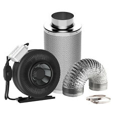 "VIVOSUN 6"" inch Inline Duct Fan w/ Controller Air Carbon Filter 8' Ducting Combo"