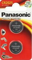 2x Panasonic Knopfzelle Lithium CR2025 (1x2er Blister) 3V CR-2025EL/2B