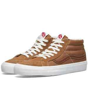 Vans Vault Og SK8 LX Mid Skate Shoes Men's Size 11 Tobacco Brown