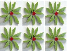 """1.5"""" Green Flowers Mosaic Tile Set - Broken Cut China Plate Tiles"""