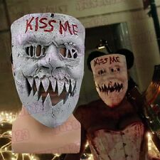 The Purge Anarchy 3 KISS ME Mask Scary Face Skull Resin Halloween Cosplay Mask