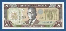 LIBERIA -- 20 DOLLARS ( 2011 ) -- UNC -- PICK 28f .