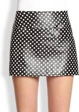 Marc Jacobs Black White Block Print Leather Mini Skirt $498 NWT 6