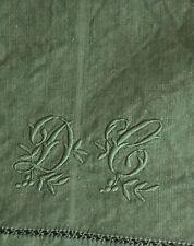 *drap paysan chanvre  teint vert émeraude/old hemp bed sheet Emerald Green/DC