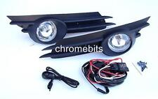 FOG LIGHTS LAMPS GRILLES SET FOR OPEL VAUXHALL CORSA D 07-09 + WIRING KIT A18