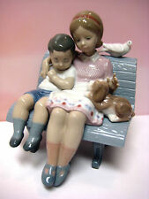 SURROUNDED BY LOVE GIRL & BOY BY LLADRO  #6446