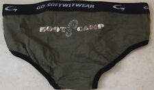 GO SOFTWEAR Boy Boot Camp Cotton Stretch Brief - Large, green