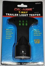 New 7 Way Trailer Light Tester Circuit Wire Brake Signal Functions LED Truck RV