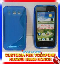 Pellicola+Custodia cover case WAVE BLU per Huawei U8860 Honor
