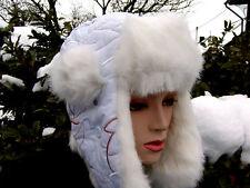 Los niños gorra tschapka mcburn conejos fell blanco talla 52 invierno gorro forradas