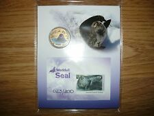 Weddell Seal --limited edition stam and coin set-only 200 issued