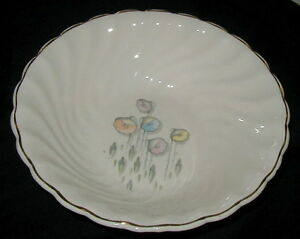 VINTAGE BAKERITE CHINA, POTTERY SERVING BOWL, CALIFORNIA POPPIES, HARKER