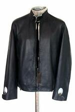 Alfred Dunhill Goat Nappa Leather Jacket Glove Blue EU50 Medium Large RRP £995