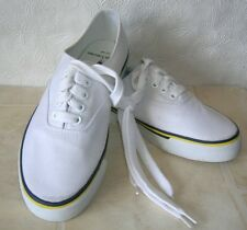 Polo White Canvas Tennis Shoes  Sneakers womens Size 7B