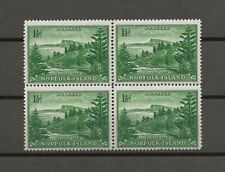 NORFOLK ISLANDS 1947/59 SG 3a MNH Block Cat £36