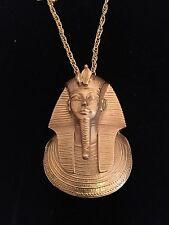 King Tut Tutankhamen Goldtone Pendant On Chain MMA Metropolitan Museum Art 1978