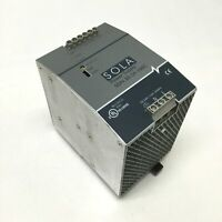 Sola SDN 20-24-100C DIN Power Supply 115/230VAC 5.6A Input, 24VDC 20A Output