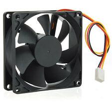 12V DC 3pin 80 80 25mm CPU PROTEZIONE pc alloggio Dissipatore Ventilatore Fan