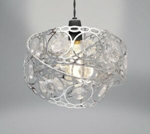 Gem Wrap Silver Jewelled Chandelier Ceiling Decoration Pendant Light Lamp Shade
