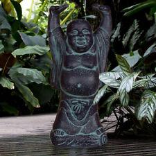 Bouddha Debout Jardin Déco Statue Céramique Terrasse Cour Figure Noir Feng-Shui