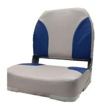 Classic Boat Folding Seat 75102GB | Low Back Gray Blue