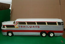 1955 Product Miniature Co. Inc. (PMC) TRAILWAYS THRU-LINER  Friction Promo Bus