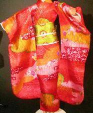 Dress Mattel Barbie Doll Dotw Princess Of Japan Red Asian Print Kimono Gown
