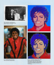 ANDY WARHOL POSTER ART ( PRINT) PAGE OF MICHAEL JACKSON SKETCHES & PHOTOS