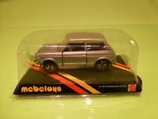MEBETOYS A48 AUTOBIANCHI A112 - SILVER GREY 1:43 - NEAR MINT ON CARD BLISTER