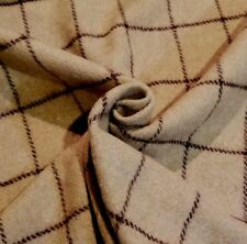 "Tan & Brown Windowpane Shetland ""Woolrich"" Jacketing - Sophisticated, Classic!"