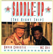 "DAVID CHRISTIE feat MC DEE - 7"" - Saddle Up 1990 / Original. UK Picture Sleeve"